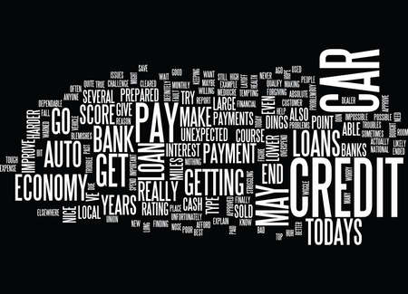 AUTO LOANS IN TODAYS ECONOMY Text Background Word Cloud Concept
