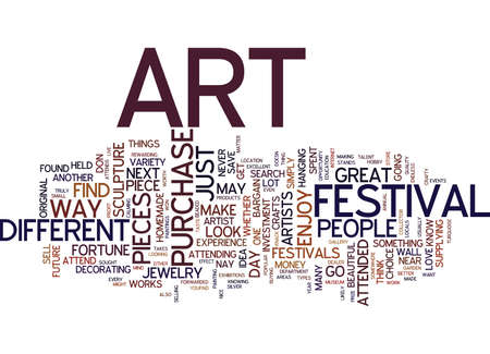 ART MAKE IT YOUR NEXT INVESTMENT Text Background Word Cloud Concept Illustration