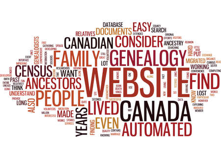 AUTOMATED GENEALOGY Text Background Word Cloud Concept