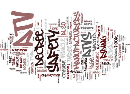 ATV SAFETY Text Background Word Cloud Concept