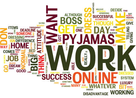 ARE YOU DRESSED FOR ONLINE SUCCESS Text Background Word Cloud Concept