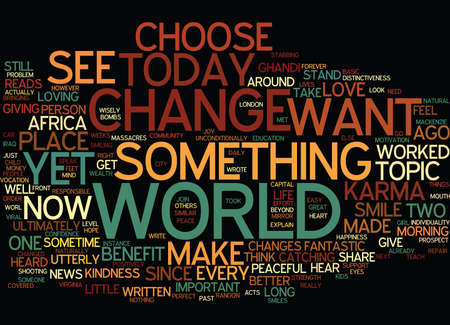 BE THE CHOOSER Text Background Word Cloud Concept