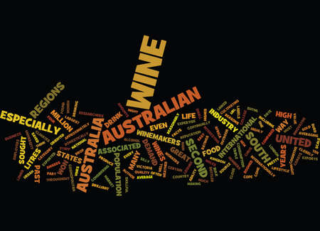 AUSTRALIAN WINES Text Background Word Cloud Concept