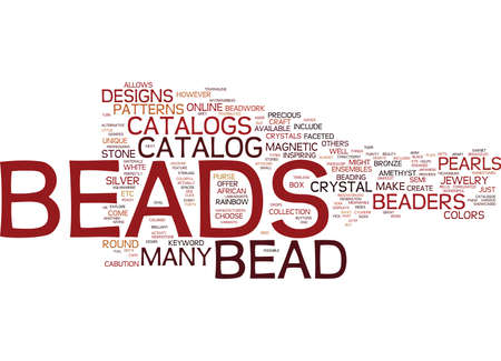 BEAD CRAFTS Text Background Word Cloud Concept Çizim