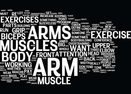 ARM EXERCISE Text Background Word Cloud Concept Illustration