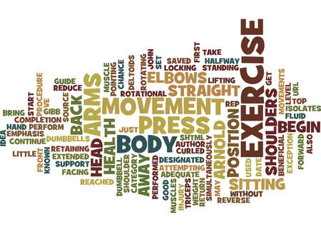 ARNOLD PRESS GUIDE Text Background Word Cloud Concept