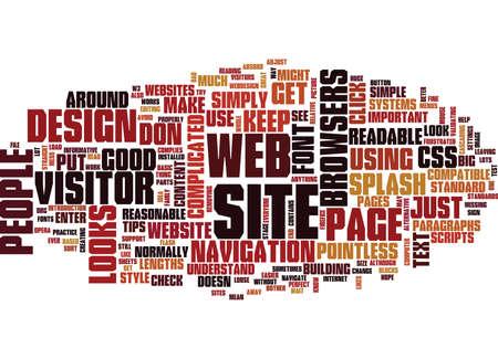 BASIC WEBSITE DESIGN SERVICE Text Background Word Cloud Concept
