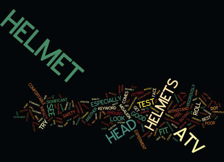 ATV HELMET Text Background Word Cloud Concept
