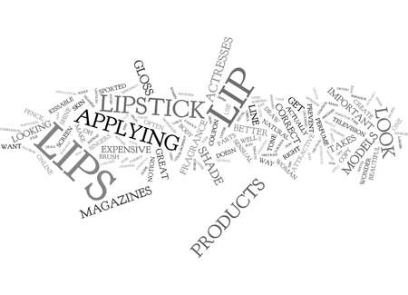 sported: ATTAIN KISSABLE LIPS Text Background Word Cloud Concept Illustration