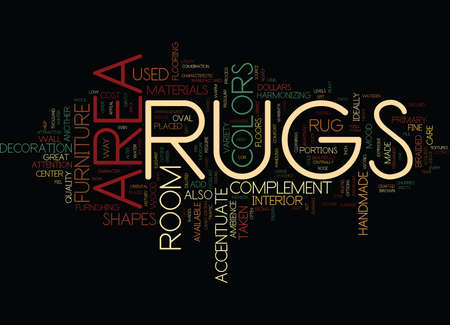 AREA RUGS Text Background Word Cloud Concept