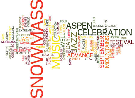 ASPEN NIGHTLIFE MUSIC IN THE MOUNTAINS Text Background Word Cloud Concept