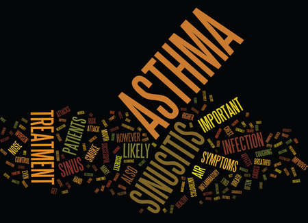 ASTHMA AND SINUSITIS AWARENESS Text Background Word Cloud Concept
