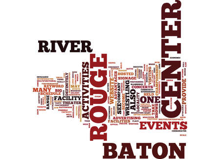 BATON ROUGE SPORTS RADIO Text Background Word Cloud Concept Vettoriali