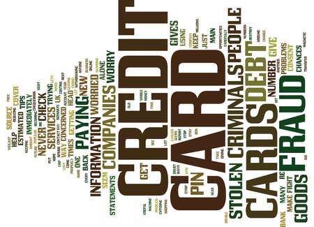 クレジット カード詐欺本文背景単語雲概念を心配しています。 写真素材 - 82568280