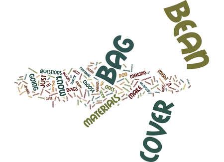 BEAN BAG COVERS Text Background Word Cloud Concept Ilustração