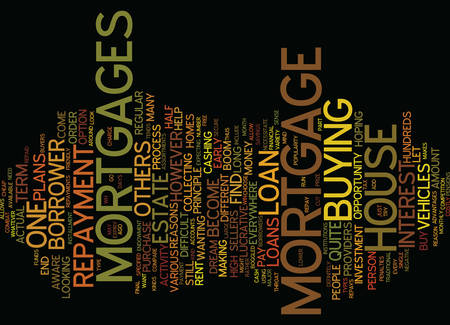 ASSORTMENTS OF MORTGAGE LOANS Text Background Word Cloud Concept