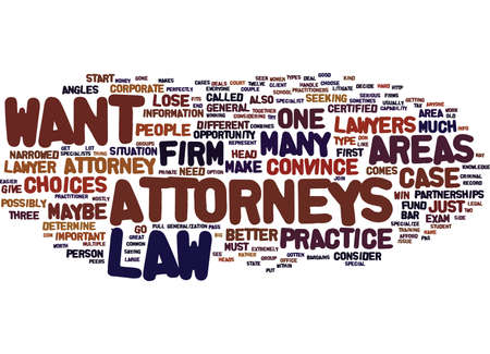 ATTORNEYS Text Background Word Cloud Concept