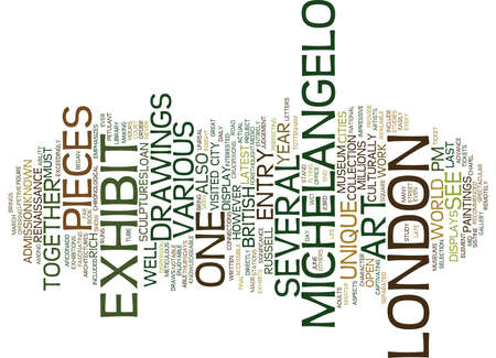 ART IN LONDON Text Background Word Cloud Concept