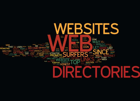 ARE WEB DIRECTORIES ANY GOOD Text Background Word Cloud Concept