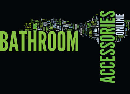 ve: BATHROOM ACCESSORIES PINK Text Background Word Cloud Concept