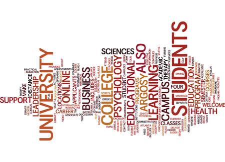 ARGOSY UNIVERSITY Text Background Word Cloud Concept Illustration