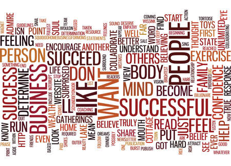 ARE YOU SUCCESSFUL Text Background Word Cloud Concept