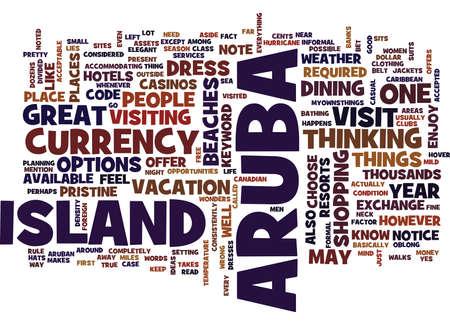 ARUBA Text Background Word Cloud Concept Illustration