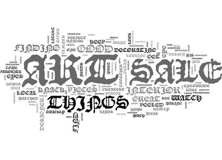 ART FOR SALE KEEP AN EYE OUT Text Background Word Cloud Concept Illustration