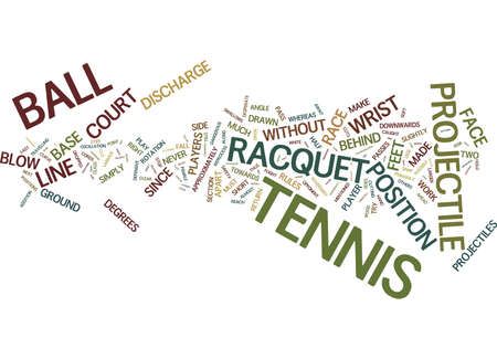 ARE YOU A TENNIS PLAYER Text Background Word Cloud Concept