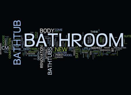 욕실 거울은 완벽한 엔코 블을 구현합니다. 텍스트 배경 단어 구름 개념