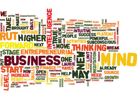 ARE YOU READY TO BREAK OUT OF YOUR ENTREPRENEURIAL RUT Text Background Word Cloud Concept