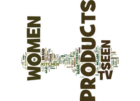AS SEEN ON TV PRODUCTS JUST FOR WOMEN Text Background Word Cloud Concept