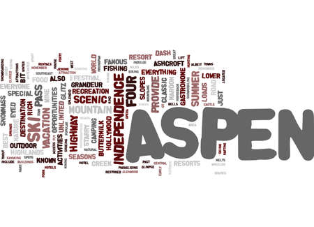 ASPEN Text Background Word Cloud Concept