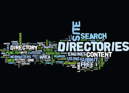 ARTICLE DIRECTORIES PLAY AN IMPORTANT ROLE IN SEO STRATEGY Text Background Word Cloud Concept Illustration