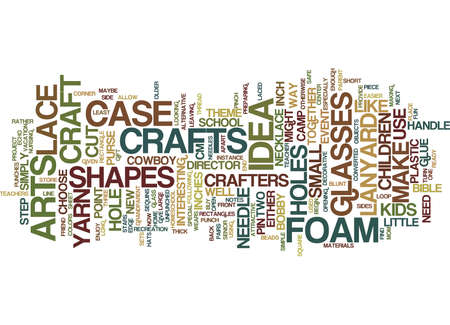 ARTS AND CRAFTS IDEA Text Background Word Cloud Concept