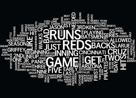 ARIZONA D BACKS VS CINCINNATI REDS Text Background Word Cloud Concept