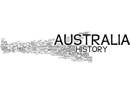 AUSTRALIA HISTORY Text Background Word Cloud Concept