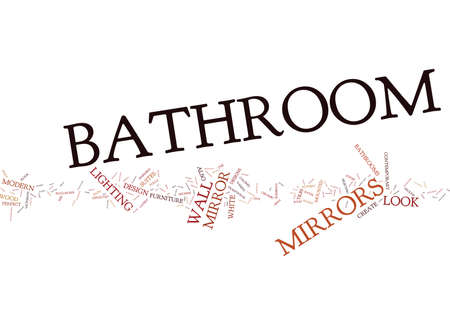 BATHROOM MIRRORS Text Background Word Cloud Concept