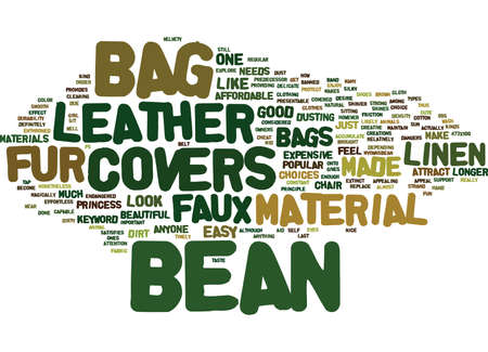 BEAN BAG FILL Text Background Word Cloud Concept