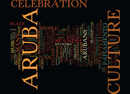 ARUBA CULTURE Text background in word cloud concept