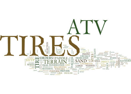 ATV TIRES Text background in word cloud concept