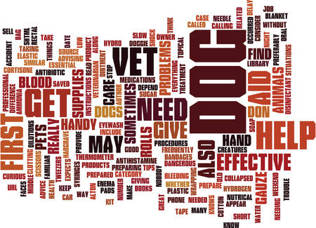 ARE YOU PREPARED TO GIVE FIRST AID TO YOUR DOG Text Background Word Cloud Concept