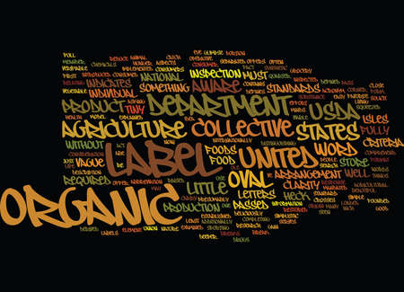 AUSDA ORGANIC WHAT THE HECK IS THAT WORDS Text Background Word Cloud Concept