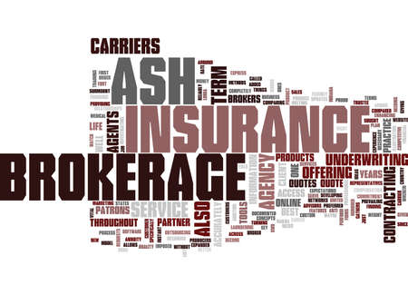 ASH BROKERAGE Text Background Word Cloud Concept Ilustrace
