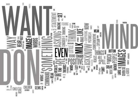 ASK FOR WHAT YOU WANT A POSITIVE MIND SET FOR POSITIVE RESULTS Text Background Word Cloud Concept Иллюстрация