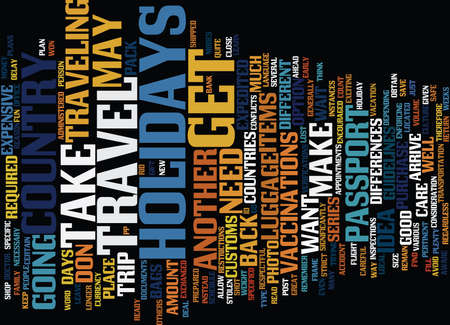 ARE YOU READY TO TRAVEL FOR THE HOLIDAYS Text Background Word Cloud Concept Illustration