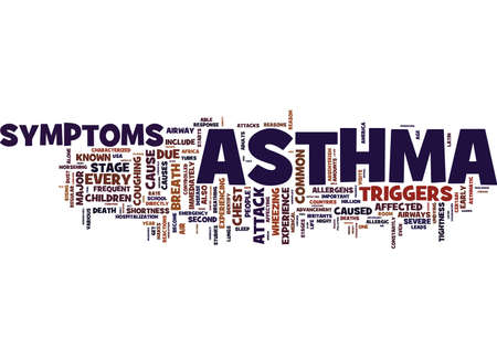ASTHMA DISCUSSED Text Background Word Cloud Concept Stock fotó - 82567749