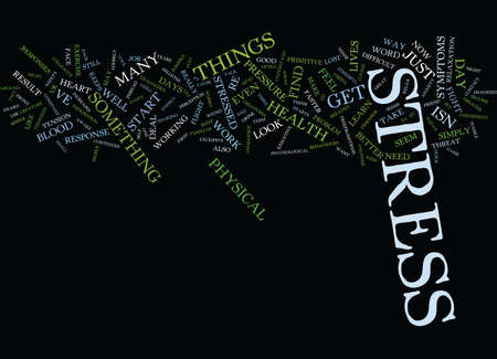 ARE YOU STRESSED OUT Text Background Word Cloud Concept Ilustração