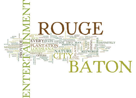 BATON ROUGE EVENTS Text Background Word Cloud Concept