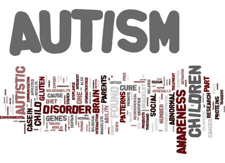 AUTISM THE MYSTERY Text Background Word Cloud Concept